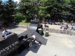 Acrobaties de velo photographier par drone