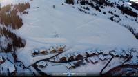 Auvergne rhone alpes vue du ciel