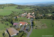 Auvergne vue du ciel par drone