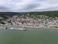Bord de mer en vue aerienne par drone