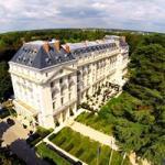 Chateau vue aerienne trianon versailles region parisienne