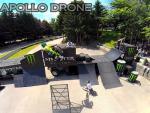 Photo aerienne saut de moto photographier par drone