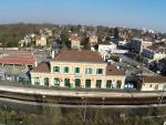 Photo aerienne ville et sa gare