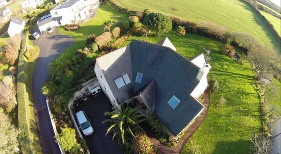 Photo maison en vue aerienne