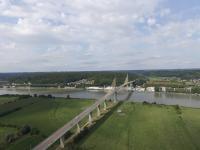 Pont au dessus de la seine en normandie