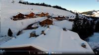 Vue aerienne par drone auvergne rhone alpes le grand bornand