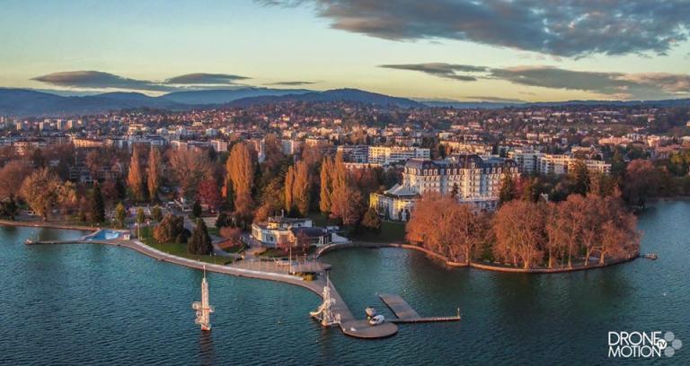 Photographie aérienne Paysage, Annecy vue du ciel