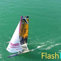 Evénement bateau en vue aérienne voilier dans la Manche 50