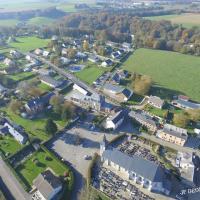 Beuzevillette village Normand photographié d'un drone