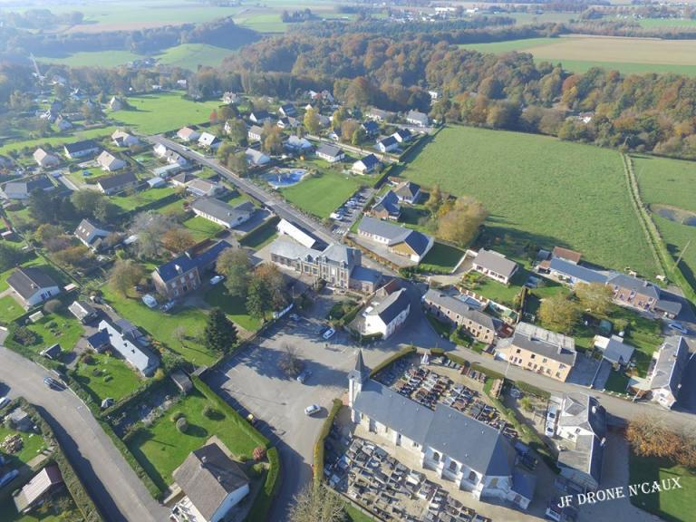 Beuzevillette village Normand photographié d'un drone