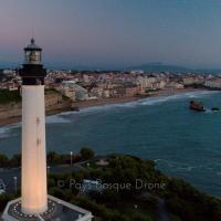 Biarritz, en photo aérienne par drone