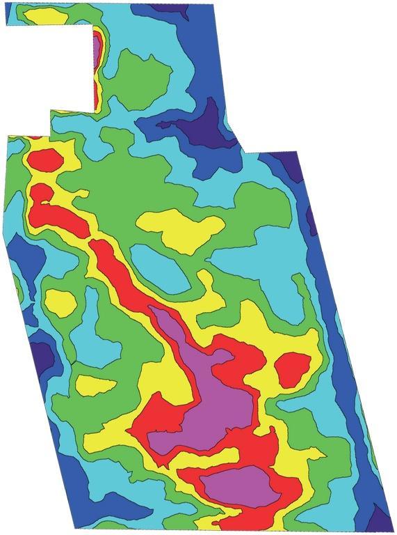 Carte de thermographie aérienne pour l'agriculture