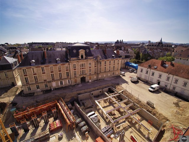 Chantier de construction photographié par un drone