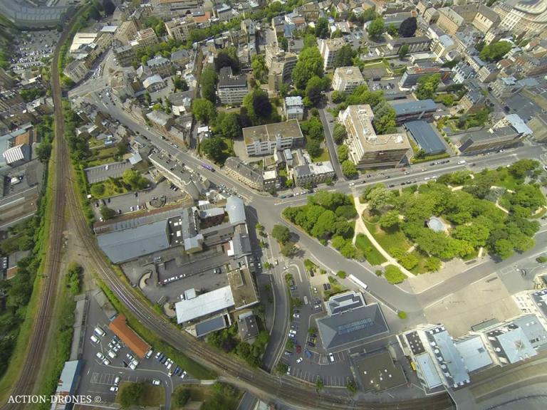Ville de Charleville-Mézières photo aérienne de drone