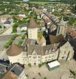 Château de Bourganeuf en vue aérienne dans le Limousin