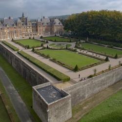 Photo aérienne du château de Eu en Normandie