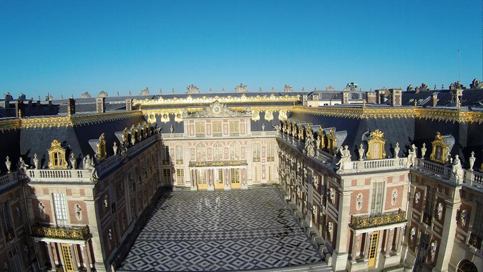 Château photographié en vue aérienne