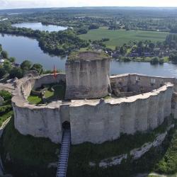 Chateau Gaillard photographié par drone en Normandie