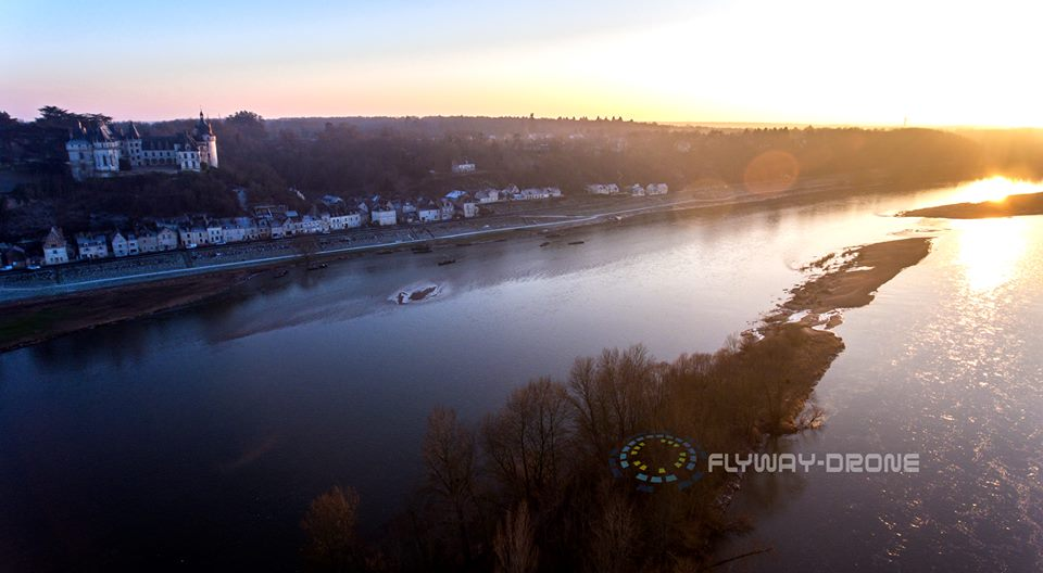 Chaumont-sur-Loire, photo aérienne drone