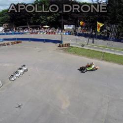 Photographie aérienne de course de moto