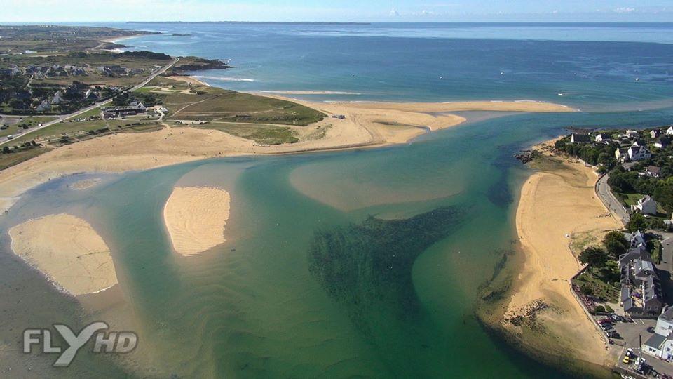 Guidel en vue aérienne photographié par un drone