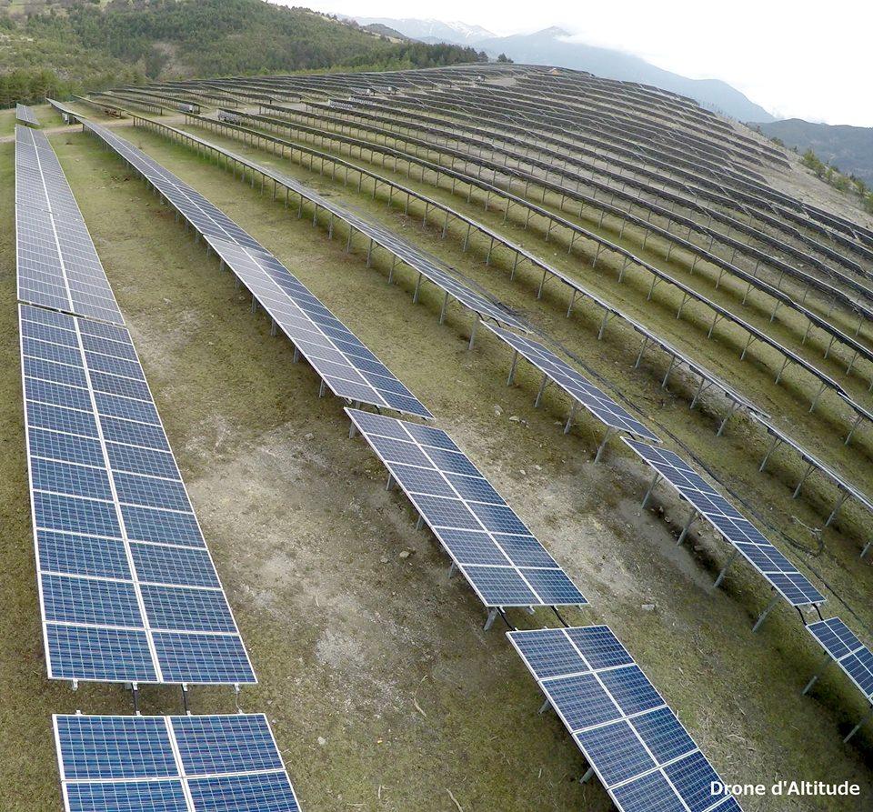 Inspection aérienne de panneaux solaires par drone