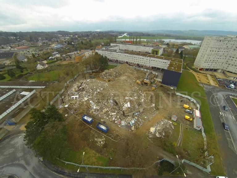 inspection aérienne drone pour suivi de chantier