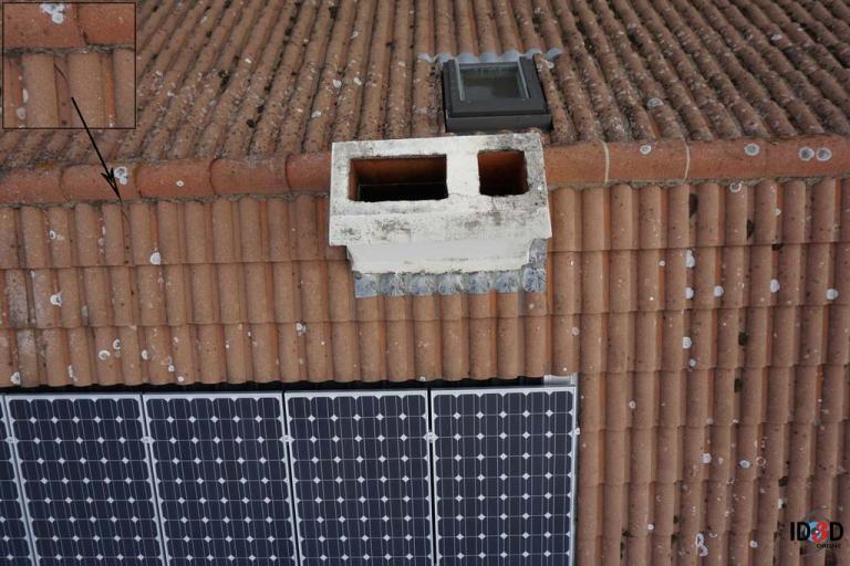 Inspection de bâtiments par drone en photographie aérienne