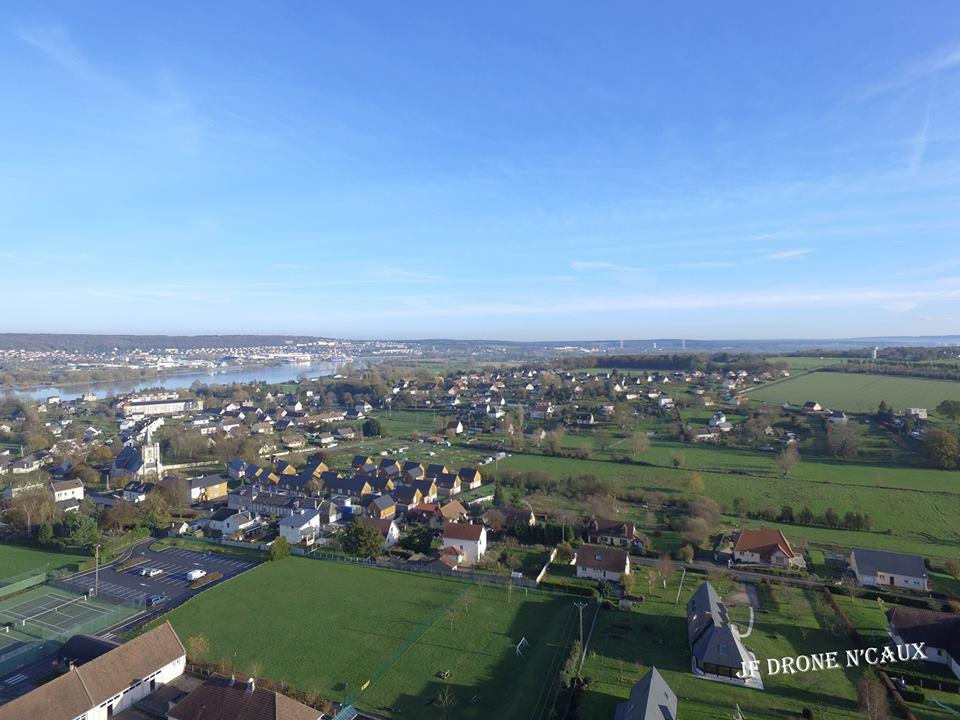 La Mailleraye-sur-Seine en Normandie, photo aérienne par drone