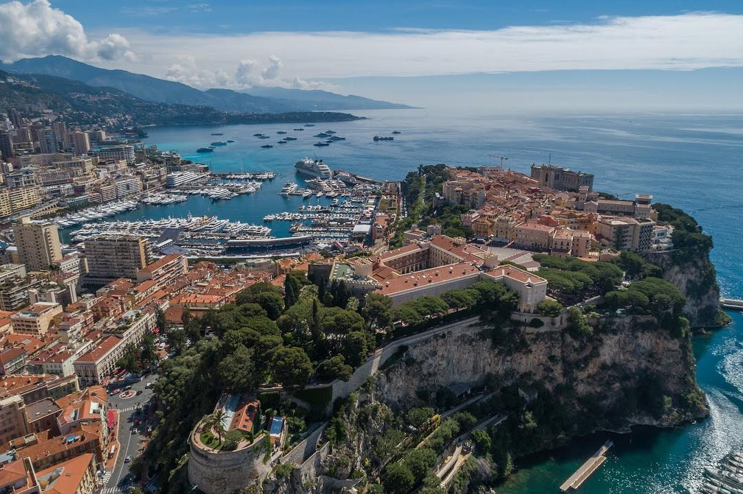 La principauté de Monaco photographié par un drone