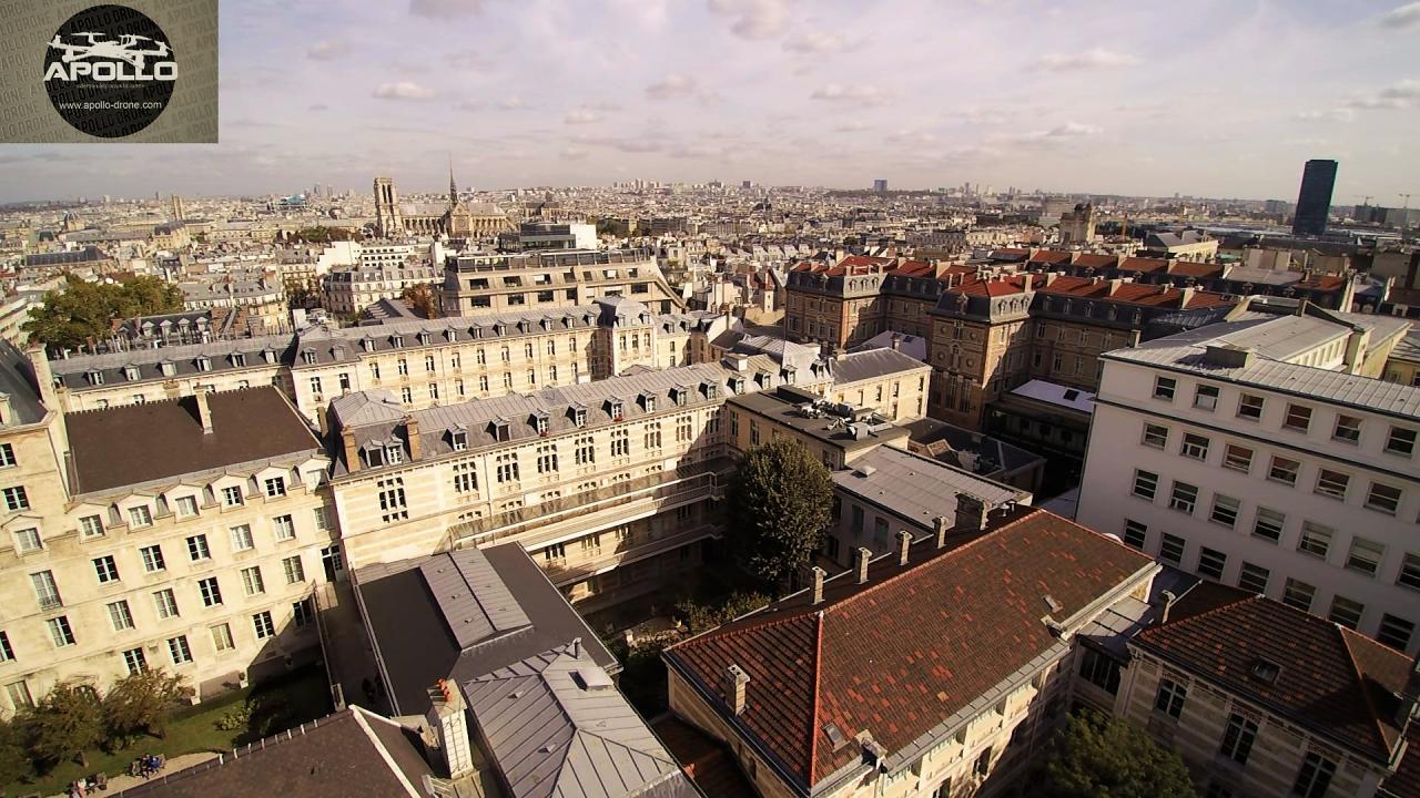 La tour Montparnasse vue aérienne du Panthéon
