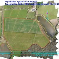 Le drone pour réalisation d'une topographie agricole de type RVB