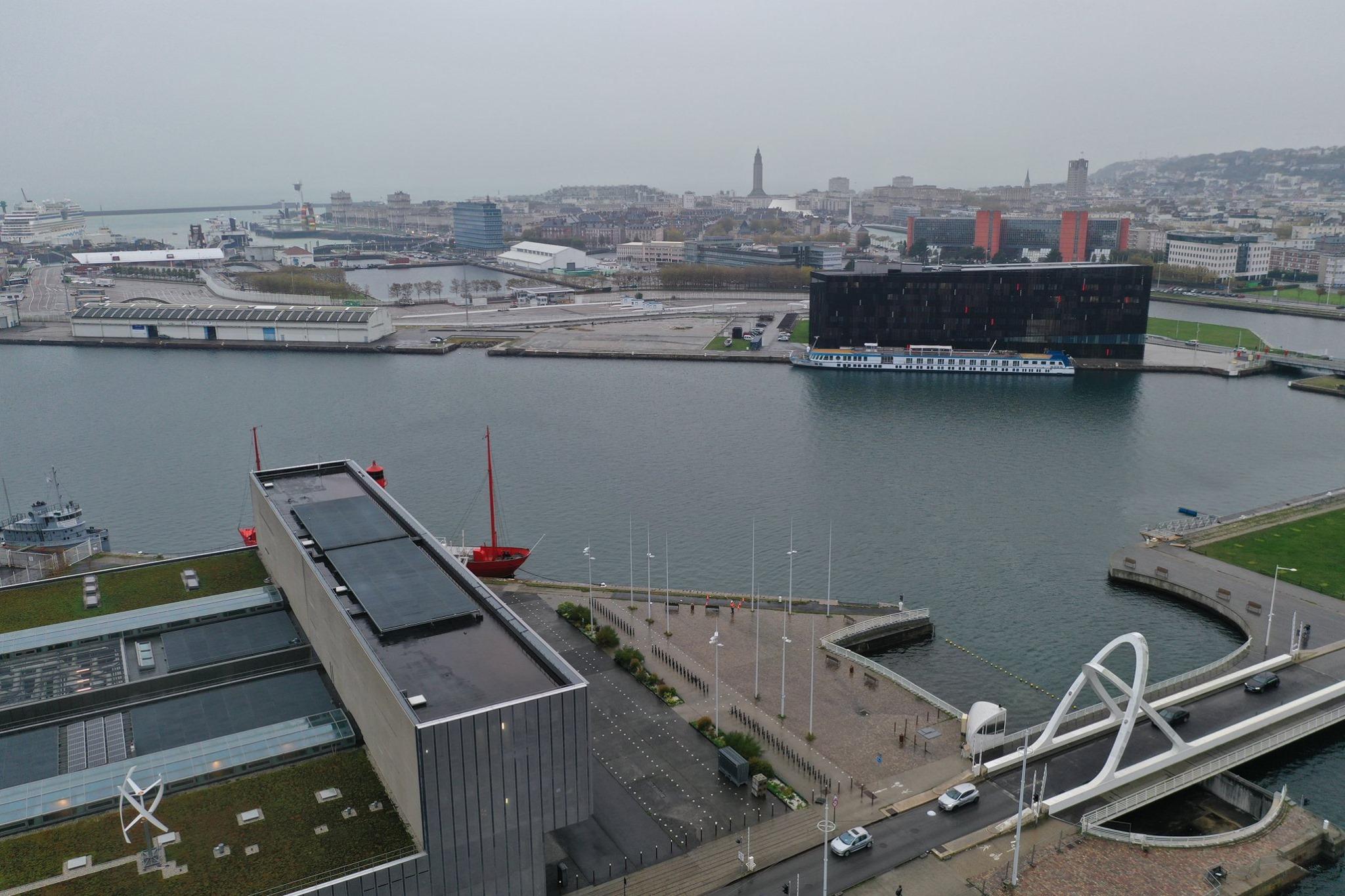 Le Havre, photo aérienne du port du Havre par drone