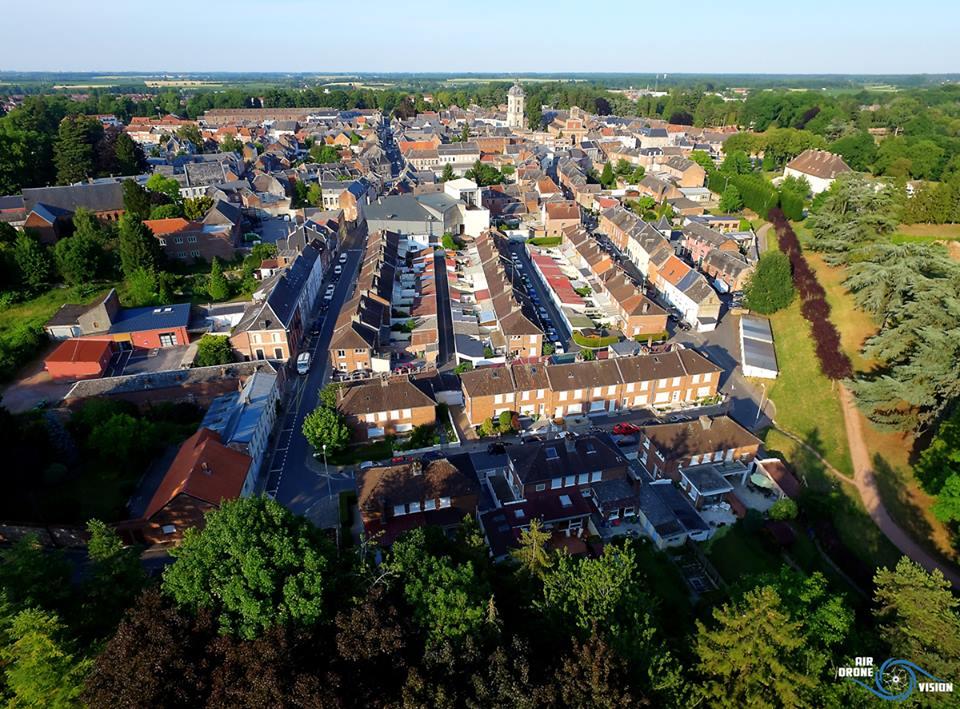 Le Quesnoy, photo aérienne par drone dans le Nord