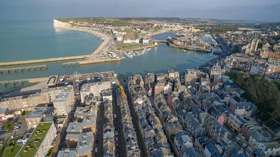 Le Tréport en Seine-Maritime Normandie vue du ciel
