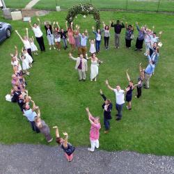 Photographie aérienne d'événements familiaux, mariage