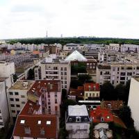 Paris vue du ciel de Suresnes par un drone