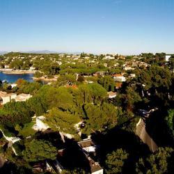 Paysage de bord de mer photo aérienne d'un drone