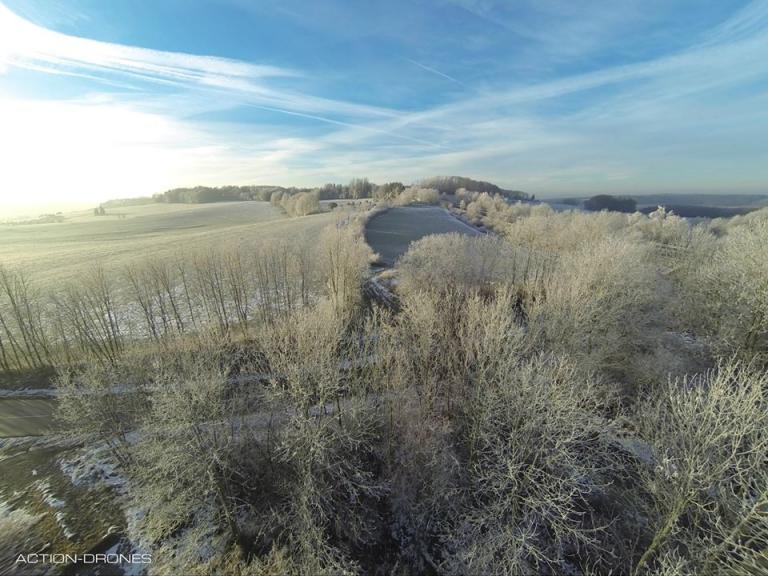 Paysage d'hivers photo aerienne par drone les Ardennes Grand-Est