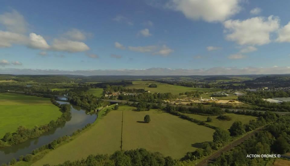 Paysage photographié par un drone dans les Ardennes Grand-Est