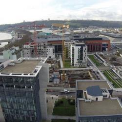 Paysage urbain photo aérienne de drone