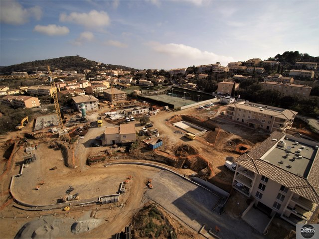 Photo aérienne de chantier par drone