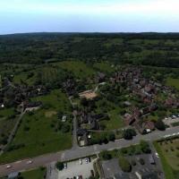 Photo aérienne de Collonges la rouge par drone en Corrèze