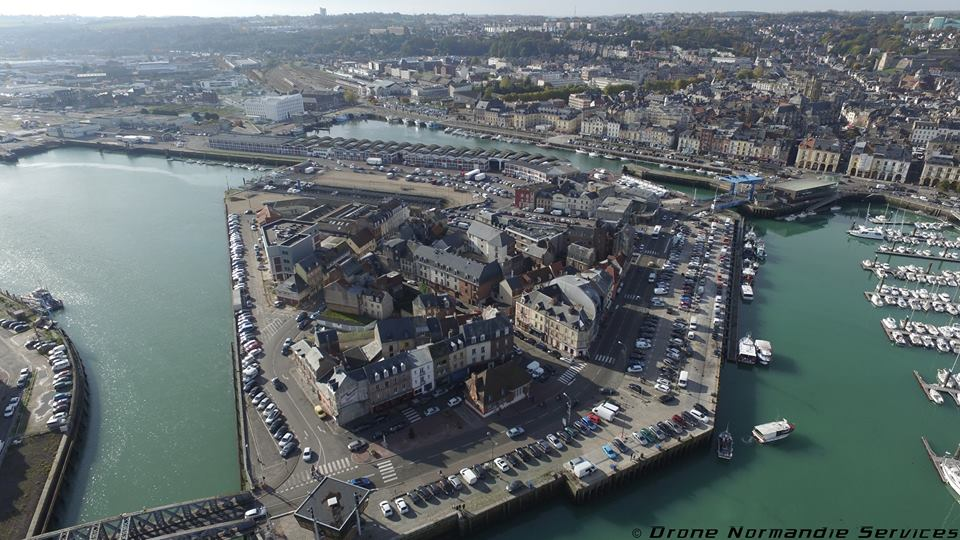 Photo aérienne de Dieppe ville de Normandie