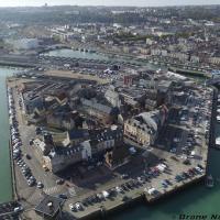 Photo aérienne de Dieppe ville de Normandie