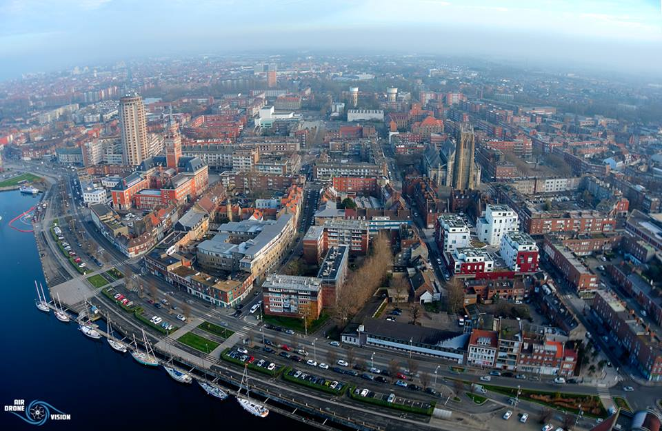 Photo aérienne de Dunkerque photographiée par un drone