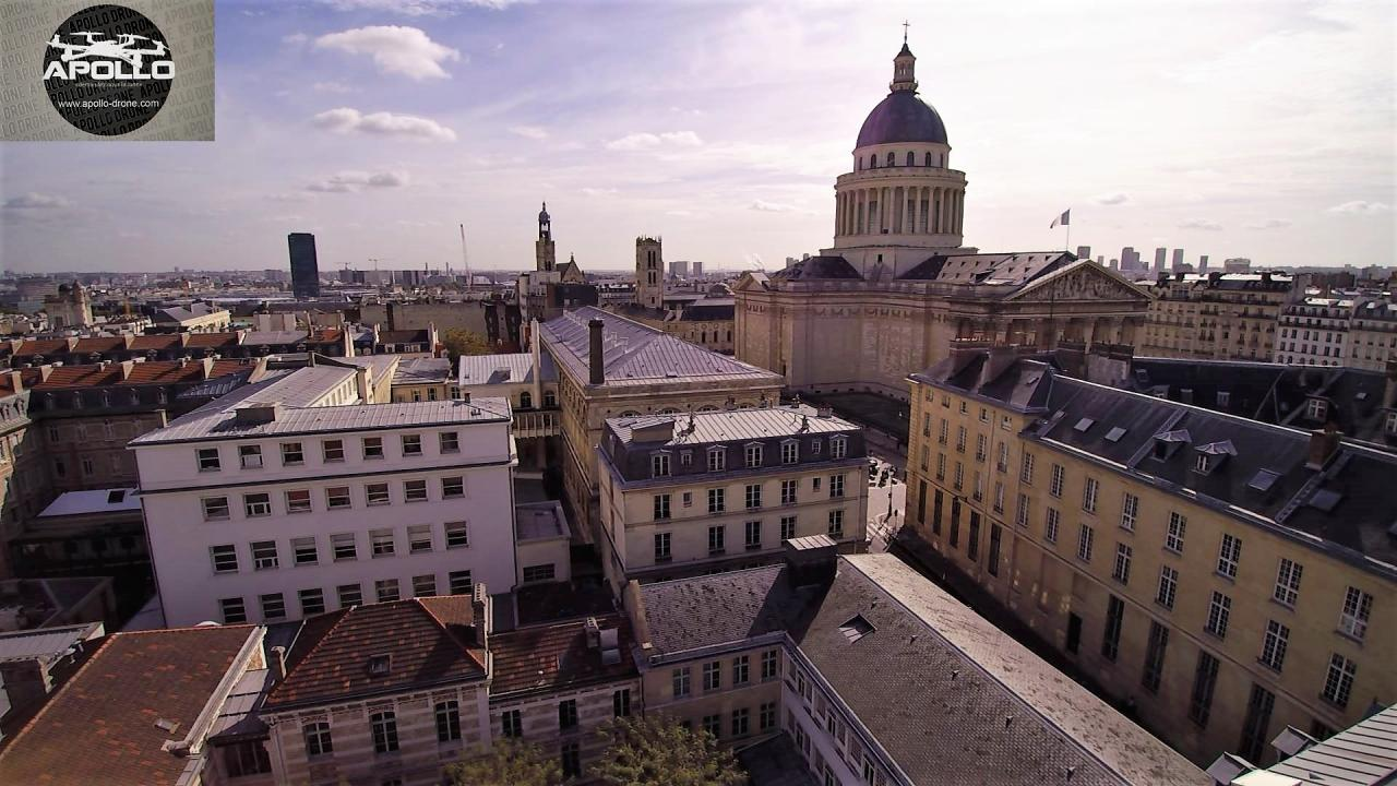 Photo aérienne de la Sorbonne à Paris, photographiée par drone