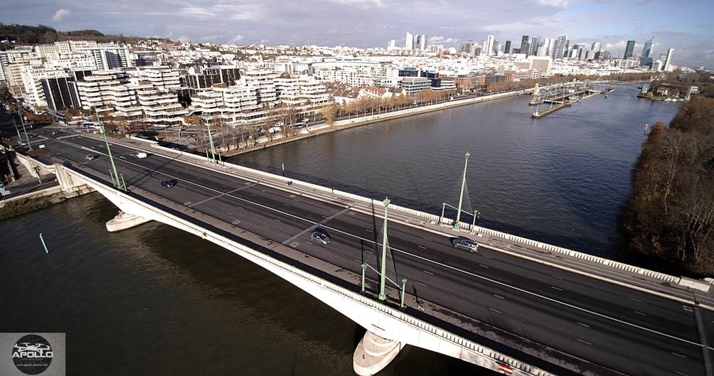 Photo aérienne de la Ville de Suresnes