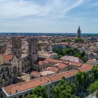 Photo aérienne de Montpellier dans l'Hérault en Occitanie