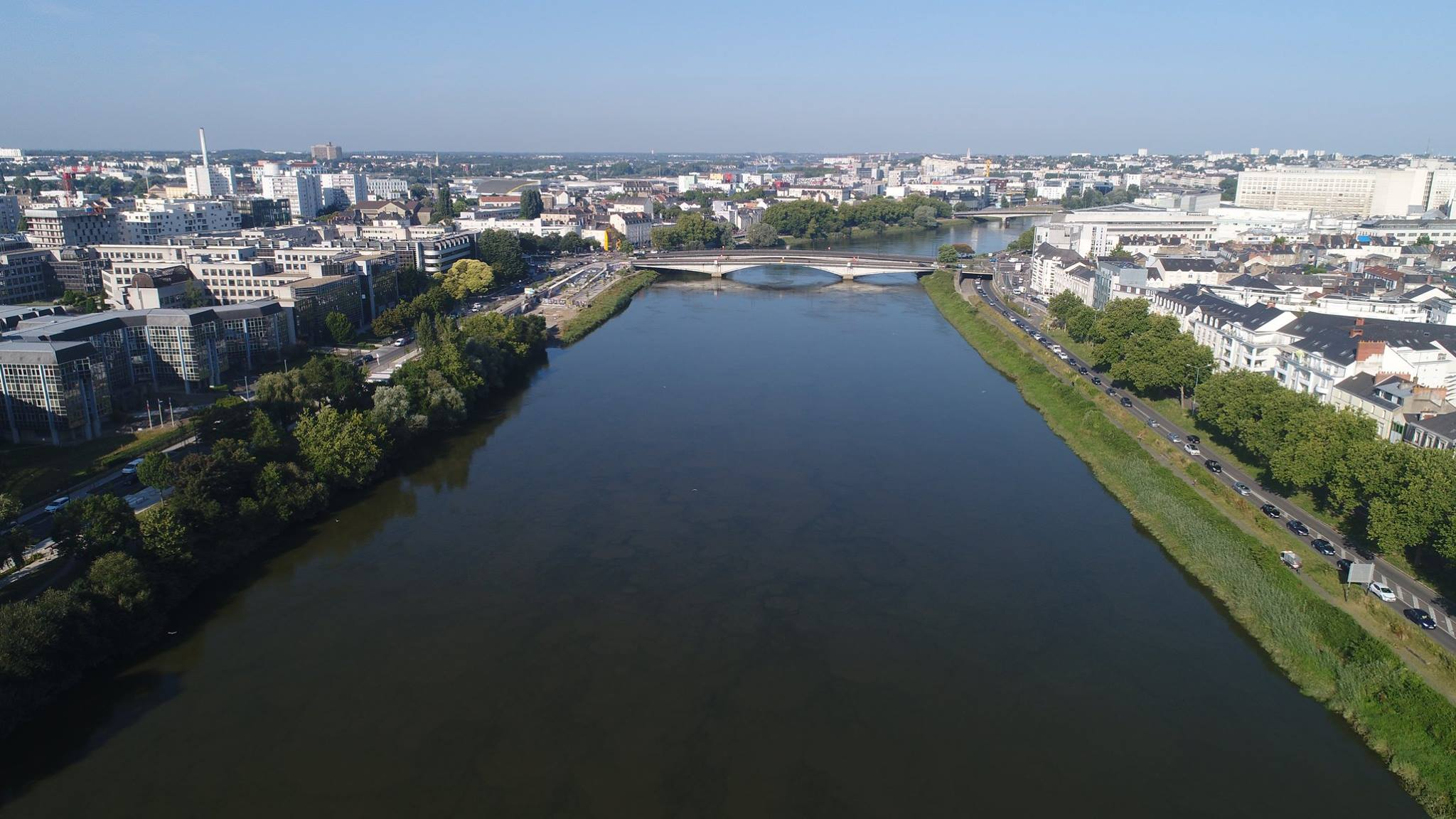 Photo aérienne de Nantes photographiée par drone